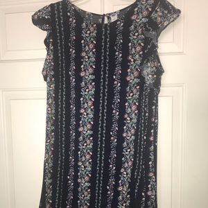 Old Navy Blue Floral Spring Summer Dress Sundress